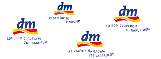 Slogan DM v různých jazykových mutacích