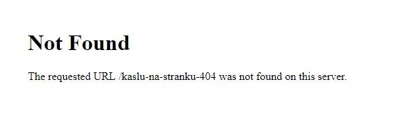 Strohá chybová stránka 404