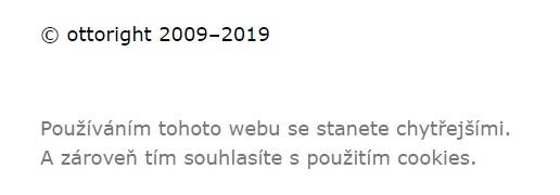Hláška o copyrightu na webu copywritera O. Bohuše