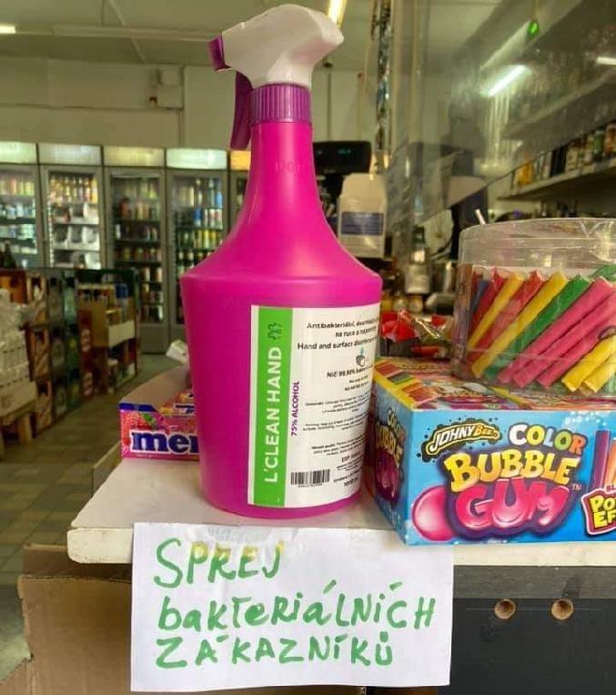 Sprej bakteriálních zákazníků