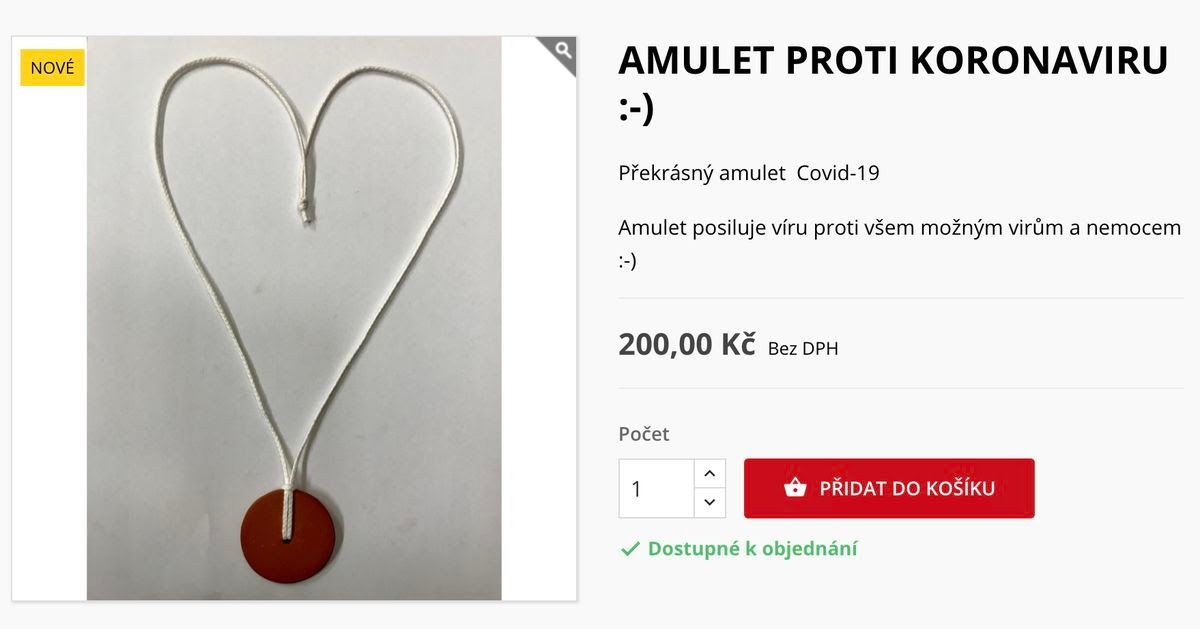 Amulet proti koronaviru