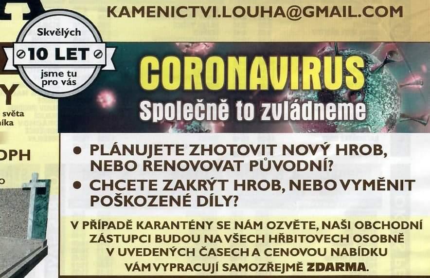Kamenictví a koronavirus