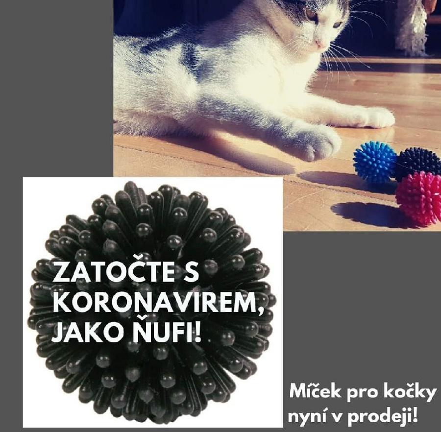 Koronavirový míček pro kočky